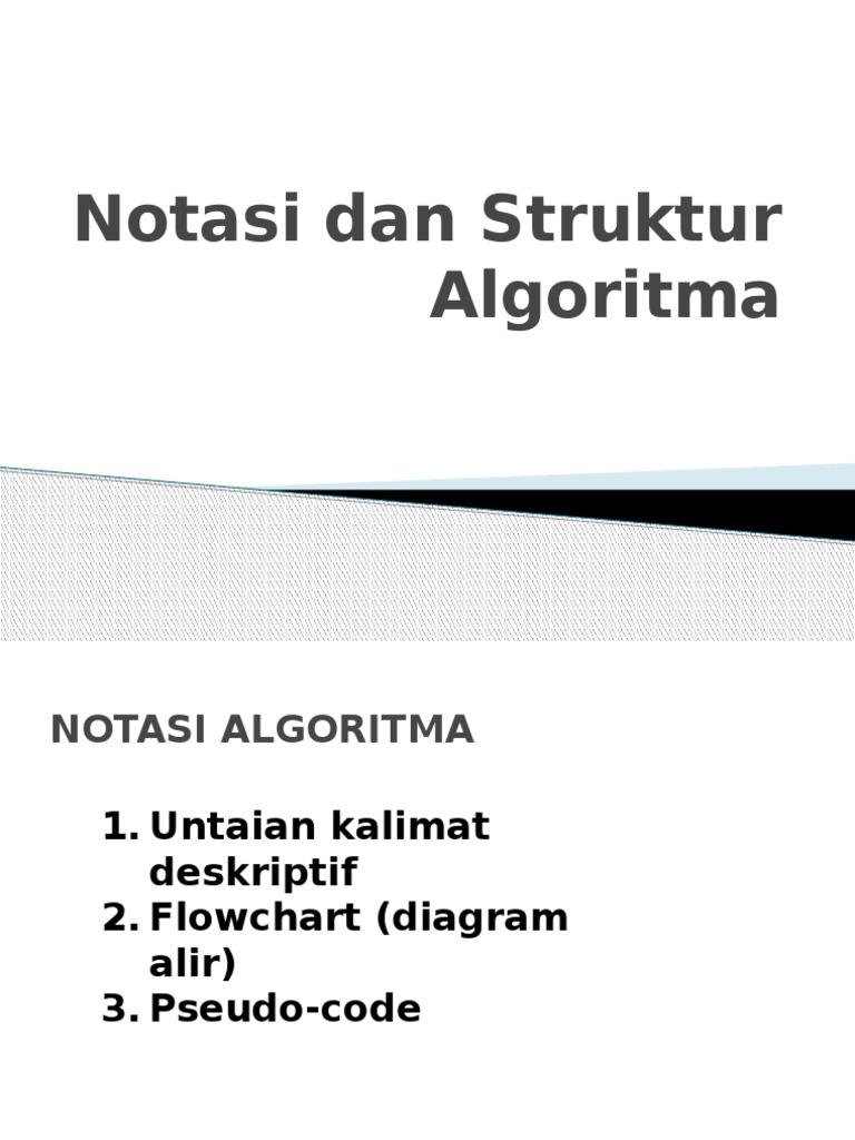 Notasi struktur algoritmapptx ccuart Choice Image