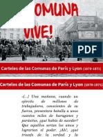 Carteles de Las Comunas de París y Lyon
