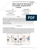 Transient Stability Analysis for Betterment of Power System Stability Adopting HVDC Controls