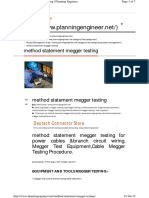 Megger Testing Method Statement.pdf