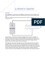 Energy Stored in Capacitor