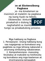 Intensibo at Ekstensibong Pagbasa