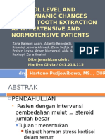 Perubahan Tingkat Kortisol Dan Hemodinamika Saat Pencabutan Gigi