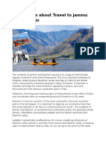 Information About Travel to Jammu and Kashmir - PDF