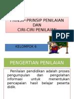 Prinsip Prinsip Penilaian