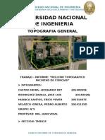 Informe de Relleno Topográfico UNI