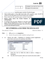 89 Multimedia and Web Technology