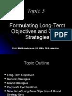 Topic-05 (Long Term Strategies)
