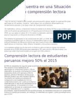 Perú se encuentra en una Situación crítica  en Comprensión Lectora.docx