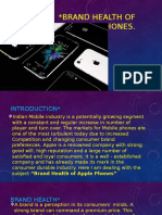Brand Health of Apple Phones PPT