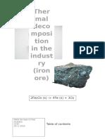 scheikunde iron decomposition  3