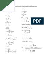 BFC2140 Final Exam List of Formulae