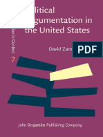 Political Argumentation in the United States_ Historical and Contemporary Studies. Selected Essays by David Zarefsky-John Benjamins Publishing Company (2014)