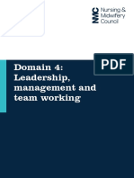 Domain 4 Leadership Management and Team Working