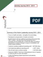 Presentation Holcim Leadership Journey