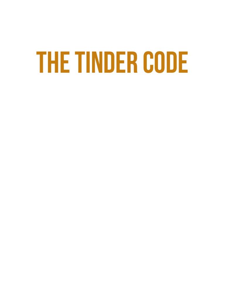 The Tinder Code E-Book | Tinder (App) | Online Dating Service