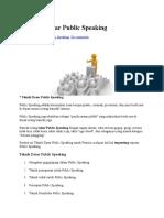 7 Teknik Dasar Public Speaking
