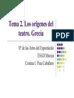 Tema 2. Los Orígenes Del Teatro. Grecia