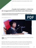 Feria Del Libro_ _El Poder de La Palabra_, El Discurso de Inauguración de La Escritora Luisa Valenzuela - 27.04