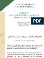 Motores Económicos y La Misión Alimentaria