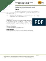 Especificaciones Tecnicas de Seguridad y Salud