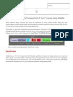 Aturan Penamaan pada Prosesor Intel ® Core™ i-series (versi Mobile) _ Khalisha