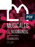 Brochure Les Musicales de Normandie