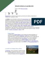 Zonas de Explotación Minera y Su Producción Mynor