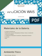 PPT Resumen de  Aplicación Wais-IV