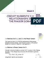 BEF 12503 - Week 8 - I-V Relationships in the Phasor Domain