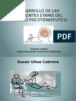 Desarrollo de Las Diferentes Etapas Del Proceso Psicoterapeutico