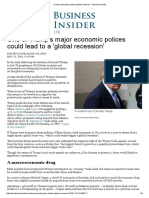 Trump Trade Policy Lead to 'Global Recession' - Business Insider
