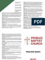 Prayer Diary May 2017