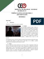 Memorias Torneo Nacional de Oratoria y Argumentación - Ceo