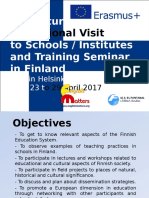 Structured Educational Visit to Schools in Finland ENGLISH
