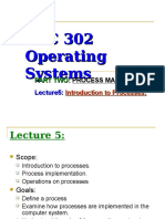 Lecture5 Introduction to Process Management