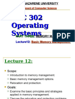 Lecture12 Introduction to Memory Management