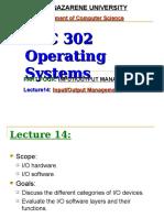 Lecture14 Input Output Management