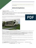 25 Planos (Gratis) Para Construir Casas Sustentables Diseñadas Por Algunos de Los Arquitectos Más Destacados - Noticias de Arquitectura - Buscador de Arquitectura