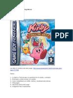 Guía de Kirby Amazing Mirror