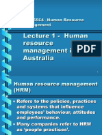 Lecture 1 - Intro to HRM 2006 Stud Lecture