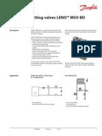 MSV BD Danfoss Balancing Valves
