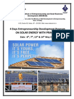 Edp on Solar Energy 6 May to 14 May 2017