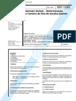 NBR 10588 - Materiais Texteis - Determinacao Do Numero de Fios de Tecidos Planos