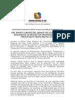 N-0706 Taller de Rendición de Cuentas en El Proceso Del PP 2018 en Santa María