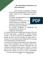 Impact Des Innovations Financières Sur Les Systèmes Financiers