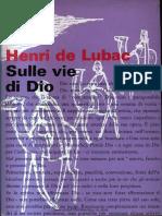 De Lubac - Sulle vie di Dio.pdf
