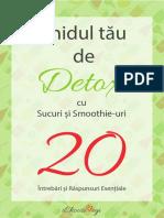 Ghidul Tau de Detoxifiere Cu Sucuri Si Smoothie-uri