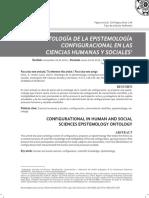 ONTOLOGÍA DE LA EPISTEMOLOGÍA CONFIGURACIONAL EN LAS CIENCIAS HUMANAS Y SOCIALES