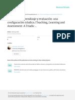 Enseñanza, aprendizaje y evaluación